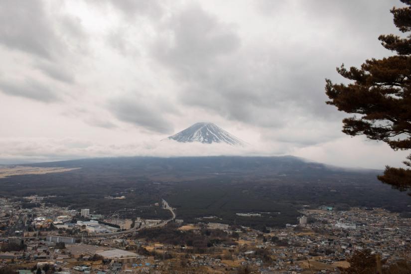 Mt. Fuji in clouds